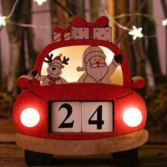 Merry Christmas Santa Car Wooden Lights Diy Craft Christmas Advent Calendar