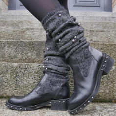 Women's PU Low Heel Boots With Rivet shoes