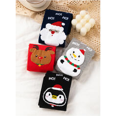 Impresión Diseñado animales/Navidad/Calcetines de la tripulación/Unisexo Calcetines (Juego de 4 pares)