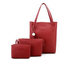 À la mode/Couleur unie PU Sacs fourre-tout/Sac en bandoulière/Ensembles de sac/Portefeuilles et Bracelets