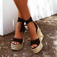 Femmes Tissu Talon compensé Sandales Compensée avec Autres chaussures