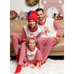 Streep Print Voor Gezinnen Kerst Pyjamas Pyjama