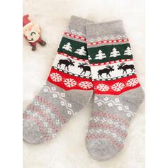 Natale renna Confortevole/Natale/Calzini dell'equipaggio/Famiglia Partita/Unisex Calzini