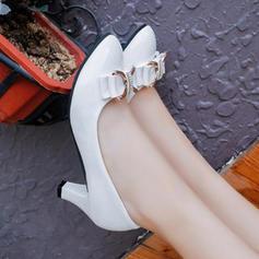 Vrouwen PU Low Heel Pumps met strik schoenen
