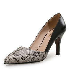 Women's Leatherette Stiletto Heel Pumps With Animal Print Split Joint shoes