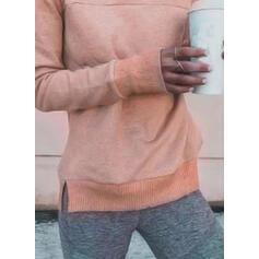 Egyszínű Υψηλό λαιμό Μακρυμάνικο Αθλητική μπλούζα
