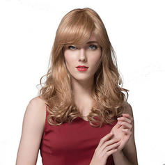 4A Non remy Curly Human Hair Capless Wigs