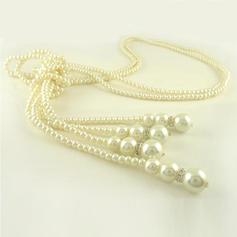 Magnifique De faux pearl avec Strass Dames Collier de mode