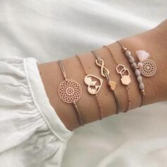 Infini Coeur Alliage avec Glands Bracelets (Lot de 5)