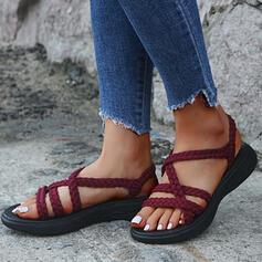 Dla kobiet Tkanina Płaski Obcas Sandały obuwie