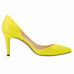 Femmes Cuir verni Talon stiletto Escarpins Bout fermé chaussures