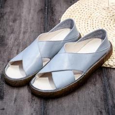 Vrouwen PU Flat Heel Sandalen Flats Peep Toe met Anderen schoenen
