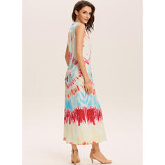 Tie Dye Sleeveless Shift Tank Casual Maxi Dresses