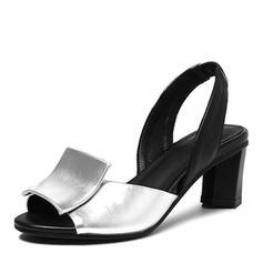 Kvinder PU Stor Hæl sandaler Pumps Kigge Tå med Andre sko