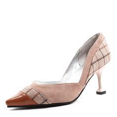 Femmes Similicuir Talon bobine Escarpins Bout fermé avec Semelle chaussures