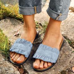 Femmes Treillis Talon plat Chaussons avec Autres chaussures