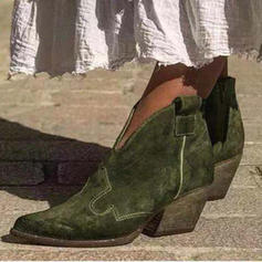 Dla kobiet PU Niski Obcas Kozaki Z Pozostałe obuwie