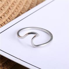 Exquisite Titanium steel Mulheres Anéis
