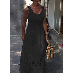 Lace/Solid Sleeveless A-line Skater Little Black/Elegant Maxi Dresses