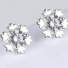Snowflake Silver Earrings Christmas Jewelry