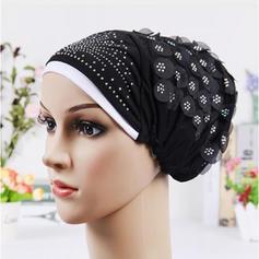 Ladies' Classic Cotton With Rhinestone Floppy Hats