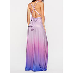 Print Sleeveless A-line Maxi Sexy/Party Dresses