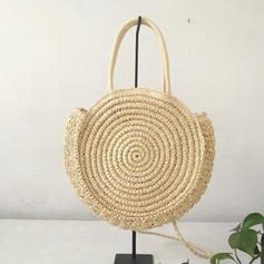 Fashionable Straw/Cloth Shoulder Bags/Beach Bags/Bucket Bags