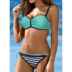 Rayures À Bretelles Sexy Classique Bikinis Maillots De Bain