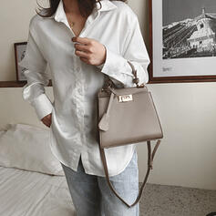 Elegant/Vintga/Solid Color/Simple Shoulder Bags