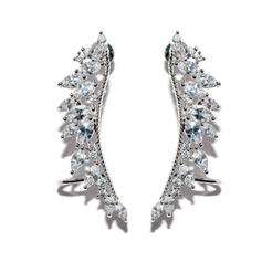 Chic Alloy Zircon Copper Ladies' Fashion Earrings