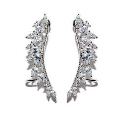 Chic Alliage Zircon de Cuivre Dames Boucles d'oreille de mode