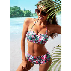 High Waist Strap V-Neck Fashionable Plus Size Bikinis Swimsuits