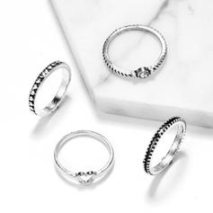 Fashionable Alloy Women's Rings (Set of 4)
