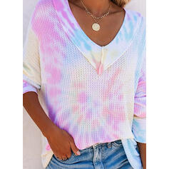 Tie-Dye  Col V Manches longues Sweat-shirts