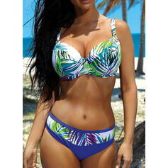 Low Waist Leaves Push Up Strap Bohemian Bikinis Swimsuits