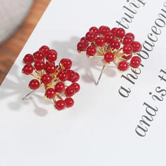 Stylish Alloy Imitation Pearls Women's Fashion Earrings (Sold in a single piece)