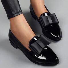 Donna PU Tacco spesso Ballerine con Bowknot Colore solido scarpe