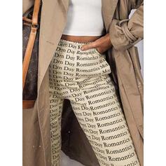 Print Long Long Sporty Print Pants