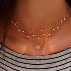 Fashionable Alloy Rhinestones Necklaces
