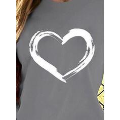 Print Ronde Hals Korte Mouwen Casual T-shirts