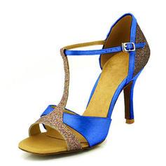 Women's Latin Heels Sandals Pumps Satin Latin