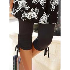 Jednolity Capris sportieve Duży rozmiar drawstring Spodnie Sztylpy