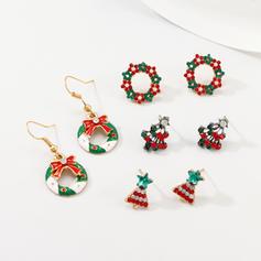Κράμα Με Απομιμήσεις Pearl Τεχνητό διαμάντι Σετ Κοσμήματα Κοσμήματα Χριστουγέννων