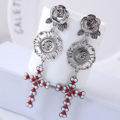 Vintage Alloy Rhinestones Imitation Pearls With Imitation Pearl Rhinestone Women's Fashion Earrings (Set of 2)