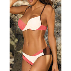 Low Waist Splice color Strap Sexy Bikinis Swimsuits