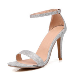 Women's Lace Spool Heel Peep Toe Pumps
