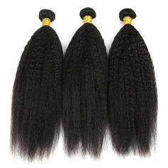 4A Kinky Straight Human Hair Human Hair Weave (Sold in a single piece) 100g
