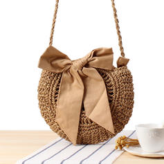 Refined/Hollow Paper Rope Shoulder Bags/Bucket Bags