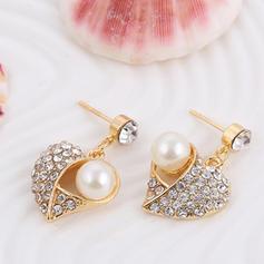 Exquisito Aleación Diamantes de imitación La perla de faux con Perlas de imitación Señoras' Sistemas de la joyería