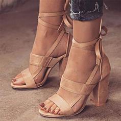 Женский PU Толстый каблук Сандалии с Зашнуровать обувь